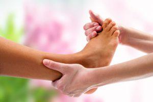 person providing foot care