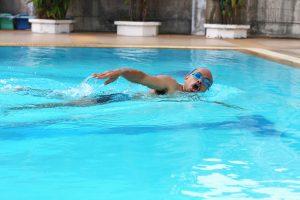 Men's swimming freestyle race